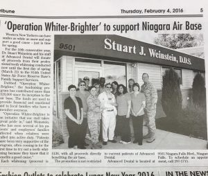 Op newspaper - Operation Whiter Brighter - Advanced Dental P.C. - Niagara Falls, NY
